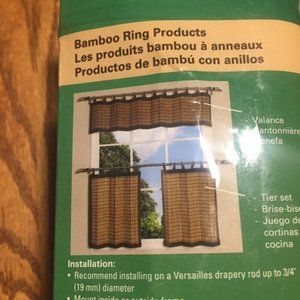 """Versailles Accents - Bamboo Ring Valance 48""""x12"""""""